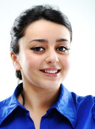 fille arabe: Beau visage fille brune