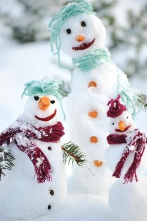 Snowman family photo