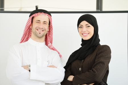 arab people: Group of multi ethnic business people at work