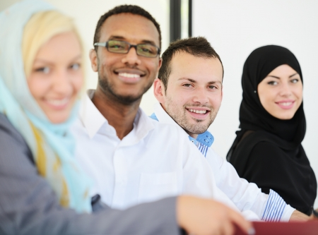 arabic man: Arabic people having a business meeting Stock Photo