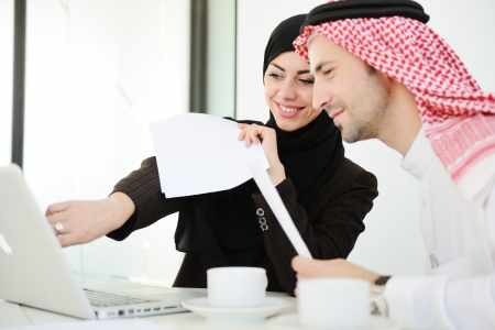 middle eastern woman: Group of multi ethnic business people at work