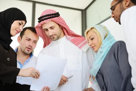 arab people: Arabic people having a business meeting Stock Photo