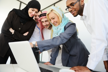 arab people: Arabic people having a business meeting Stock Photo
