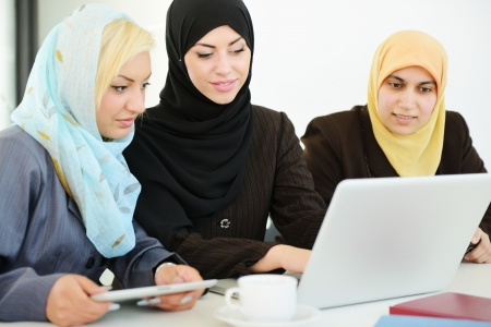 business woman: Group of Muslim women working