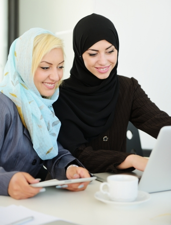 muslim: Group of Muslim women working