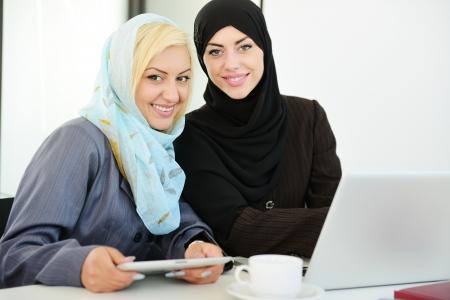 Group of Muslim women working photo
