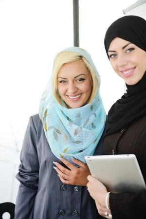 femmes muslim: Groupe de travail de la femme musulmane Banque d'images