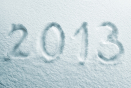 Written word 2012 on a snow background photo