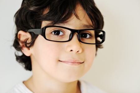 funny glasses: Child portrait with eye glasses