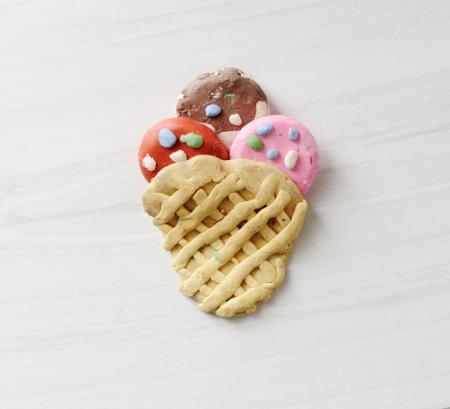 Handmade ice cream photo