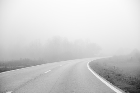 Road in fog Stock Photo - 18475032