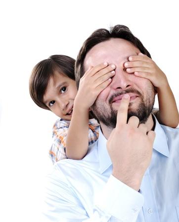 padre e hijo: Padre joven e hijo