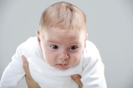 Newborn baby portrait photo