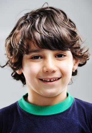 brown hair: Kid portrait Stock Photo