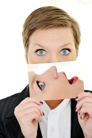 cara sorpresa: Mujer sorpresa concepto cara