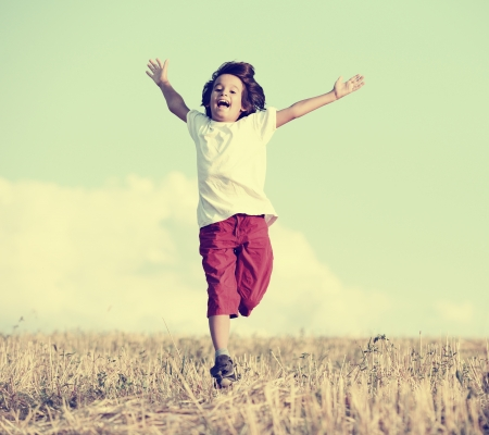 open air: Happiness and freedom Stock Photo