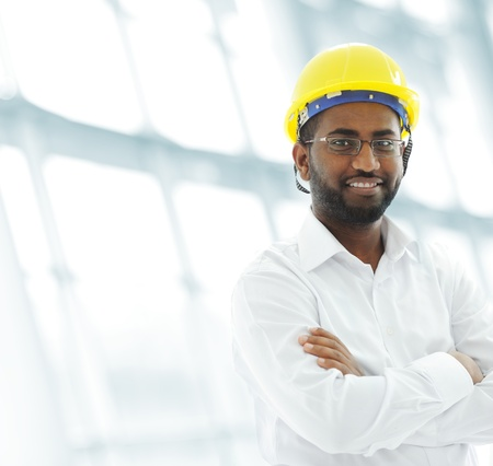 industry worker: African american architect engineer Stock Photo