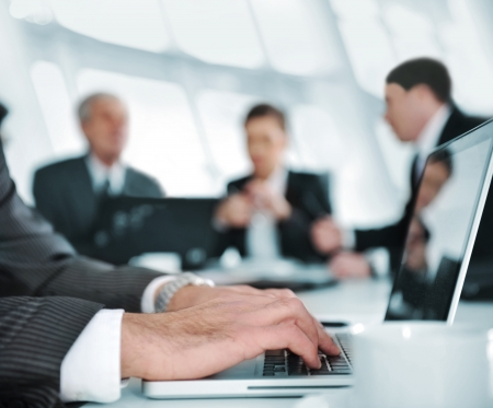 lawyers: Business people discussion at meeting room Stock Photo