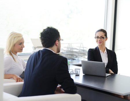 financial planner: Successful business people consulting