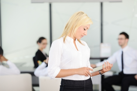 office environment: Business woman with tablet