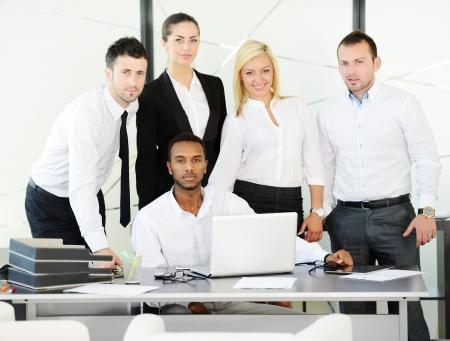 succesful: Successful business people at office