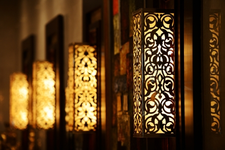 Ornamental vintage wall lamp Stock Photo