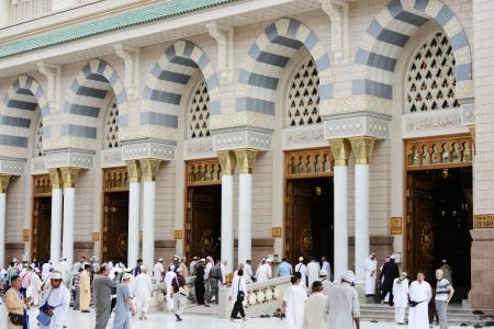 medina: Mosque gate at Madina Editorial