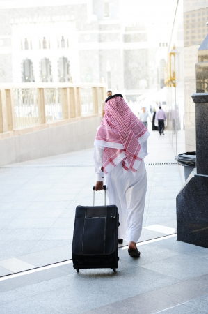 Arabic businessman walking Stock Photo - 18513874