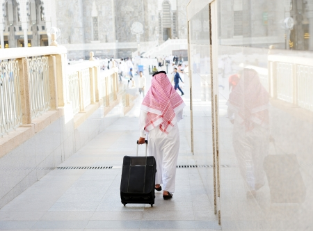 Arabic businessman walking Stock Photo - 18513772