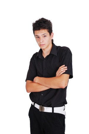 Teenager with his arms folded photo