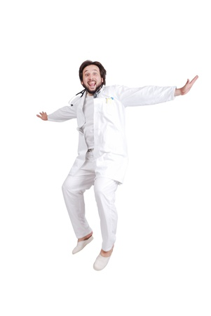 Doctor full of joy Stock Photo - 19277760