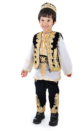 middle eastern clothes: Cute muslim kid Stock Photo