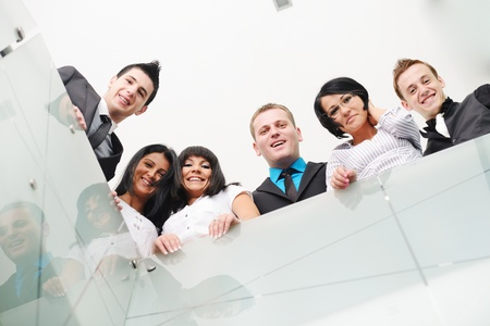 group business: Group of business people standing in office