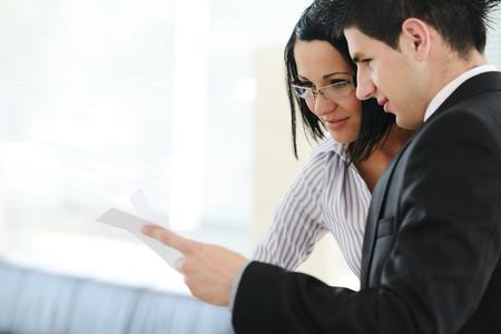 advising: Personal financial advisor using tablet Stock Photo