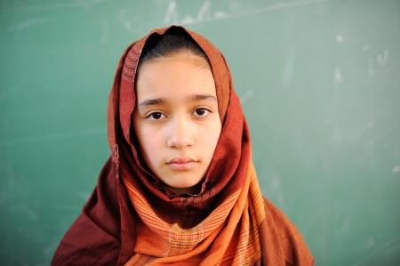 pakistan: Muslim girl with hijab in school