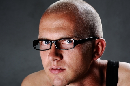 Portrait of a guy with glasses photo