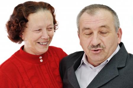 Happy senior couple photo