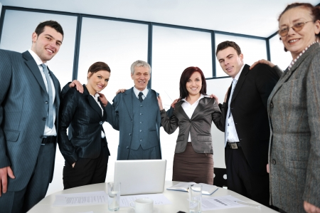20 s: People on a business meeting Stock Photo