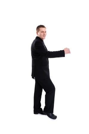 Happy businessman isolated over white background Stock Photo - 19306569