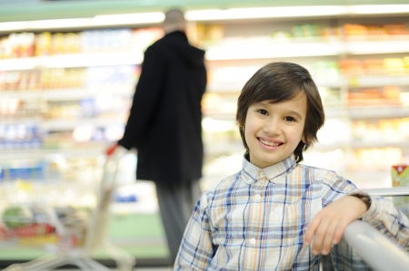 lost child: Boy in supermarket