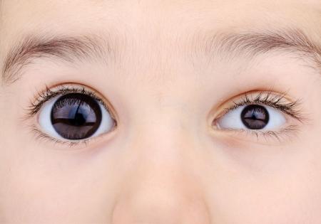 macro shot of childs eyes Stock Photo