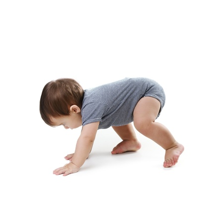 Crawling baby boy photo