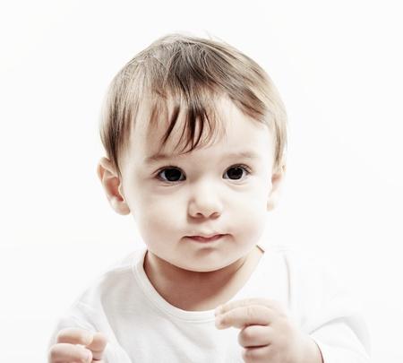buen vivir: Retrato de muchacho muy feliz sonriente bebé Foto de archivo