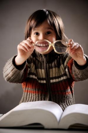 Closeup portrait of cute kid photo