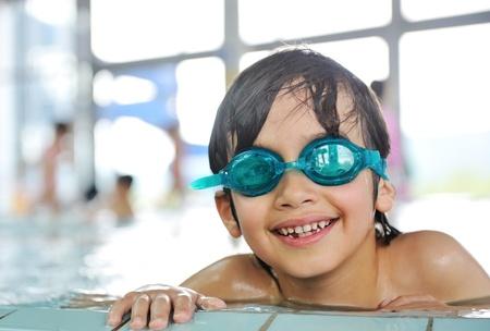beautiful little boys: Cute little boy in swimming pool