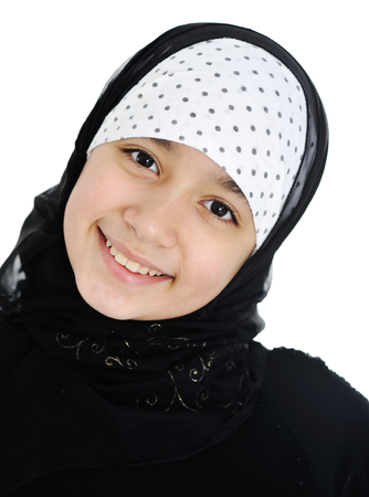 Teenage girl with hijab photo