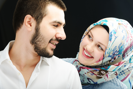 verliefd stel: Arabisch paar samen Stockfoto