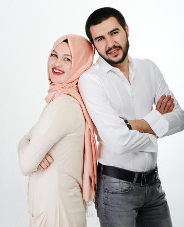 arabic boy: Arabic couple together