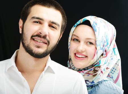 boy arabic: Arabic couple together