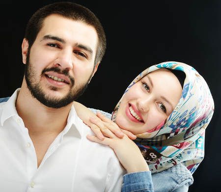 Arabic couple together photo